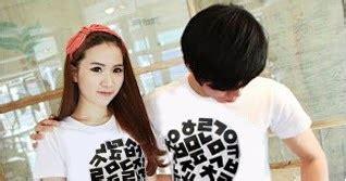 Baju Kaos Pasangan Cewek Cowok Polos Putih fashion baju pasangan