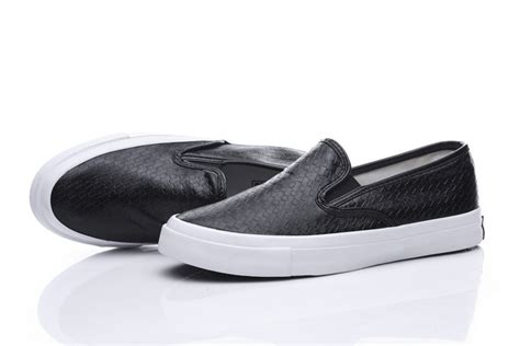 converse loafers converse all black luxurious woven leather chuck