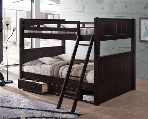 queen futon bunk bed dillon queen over queen bunk bed with storage and trundle