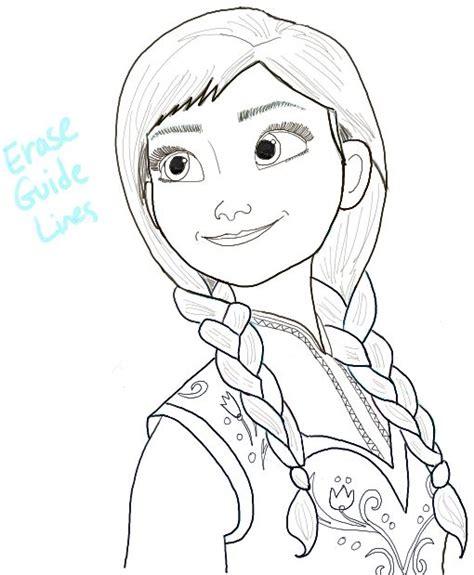 doodle sketch frozen step15 princess frozen tekenen how to