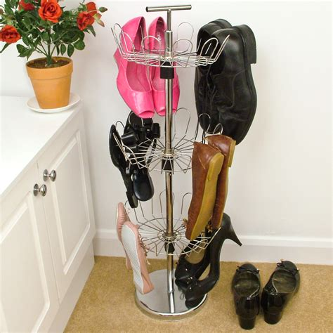 shoe tree storage revolving rotating shoe tree stand storage rack 3 tier