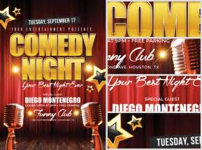 comedy night flyer template flyerheroes