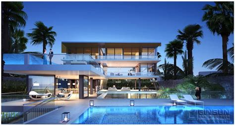 a set of extraordinary villas with a modern architecture