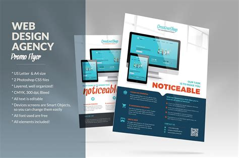 Web Design Agency Flyer Flyer Templates Creative Market Web Design Flyer Template