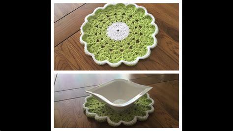 Crochet Table Mats - how to crochet table mat