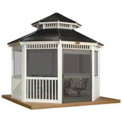 Metal Gazebo Lowes by Shop Suncast White Resin Screen Kit With Door For 12 Ft
