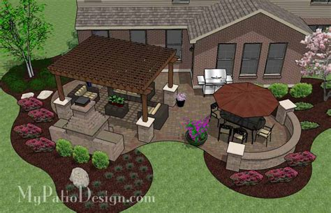 patio layout designs curvy pergola covered patio tinkerturf