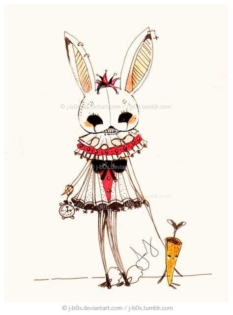 the white rabbit by j b0x on deviantart