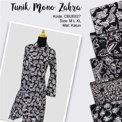 Mono Tunik blus tunik mono batik zahra blus lengan panjang murah