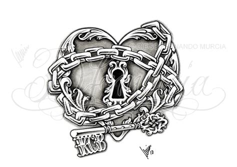 heart and lock tattoo designs lock and key by dfmurcia on deviantart