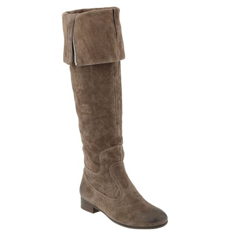 franco sarto rapid the knee boot in brown new taupe