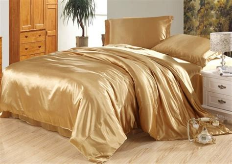 silk bedding sets 7pcs luxury camel tanning silk bedding set satin sheets super king queen full twin