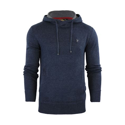Sweaterhoodiee Jumpersweater Evolution mens hoodie jumper ringspun junip hooded knitted sweater ebay