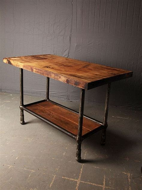 folding kitchen island work table industrial table industrial decor kitchen