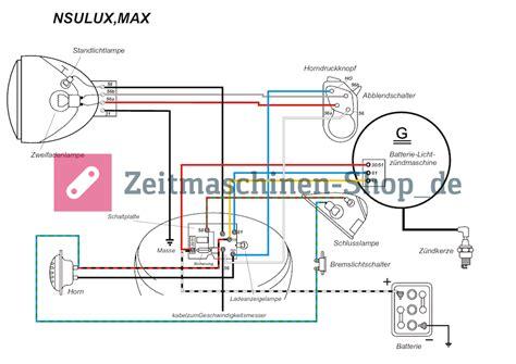 Ebay Motorrad Nsu Supermax by Nsu Max Supermax Standardmax Kabelbaum Mit Schaltplan