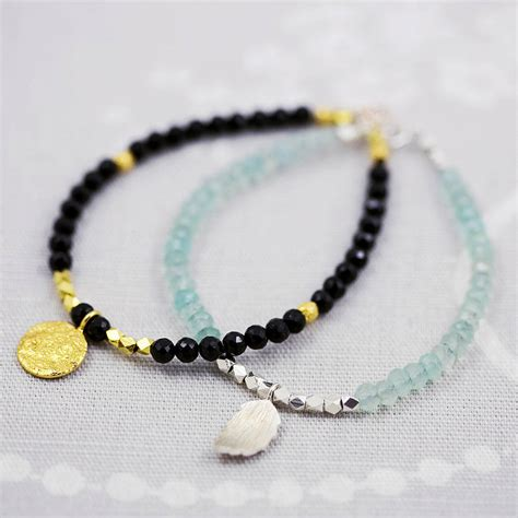 Handmade Bracelets Uk - handmade gemstone bead bracelet by j s jewellery