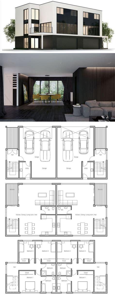 Duplex Plans That Look Like Single Family by Best 25 Duplex Floor Plans Ideas On Pinterest Duplex