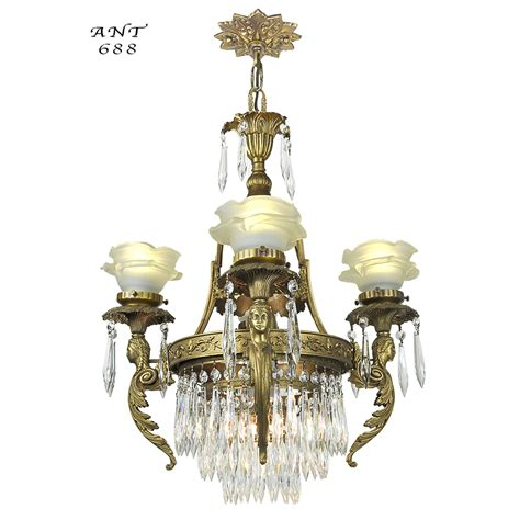Chandelier Lights For Sale French Crystal Chandelier Antique 4 Arm Figural Ceiling