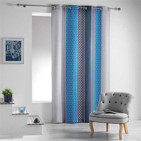 Rideau Bleu by Rideau Tamisant 140 X 260 Cm Galliance Bleu Rideau