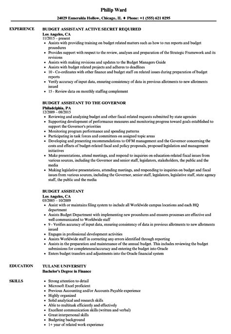 Budget Manager Resume by Sle Cv Budget Manager Images Certificate Design And