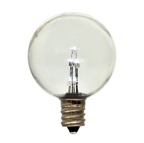 Globe G50 E12 Candelabra Base Light Bulb Plastic Clear Led Light Bulbs