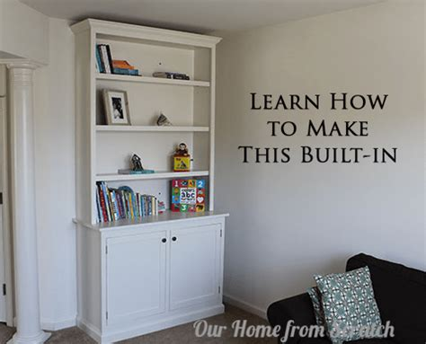build diy built in bookcases cabinets plans plans wooden