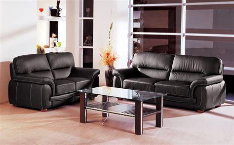 Black Italian Leather Sofa by Black Italian Leather 3 Pcs Sofa Set Garne