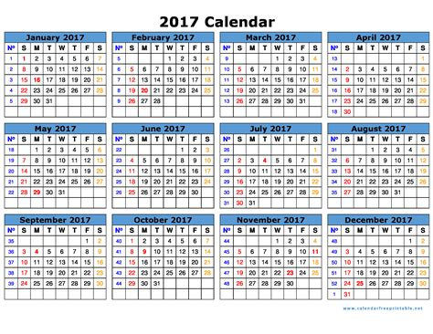 2017 Yearly Calendar Printable With Holidays 2017 Calendar Printable Calendar Free Printable