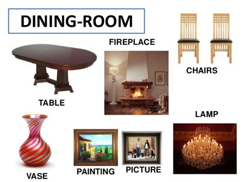Dining Room Table Parts the house vocabulary