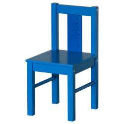 Attractive glazed blue varnished solid wood kids chair with low square