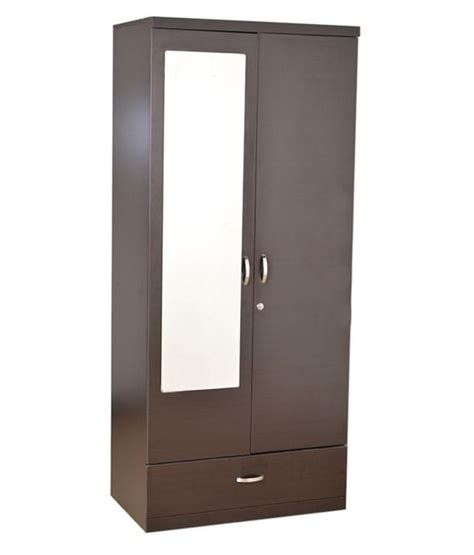 Mirror Wardrobe Doors Price by Hometown Utsav 2 Door Wardrobe With Mirror Buy At