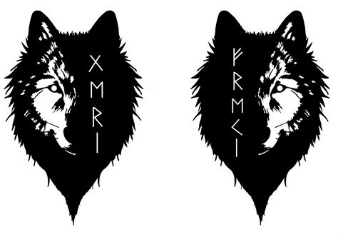 geri and freki wolves www pixshark com images