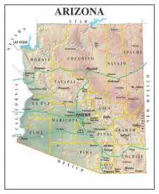 geographic map of arizona arizonastatemap