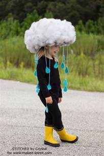 Halloween Sewing Crafts - make a quick amp easy rain cloud costume for all ages