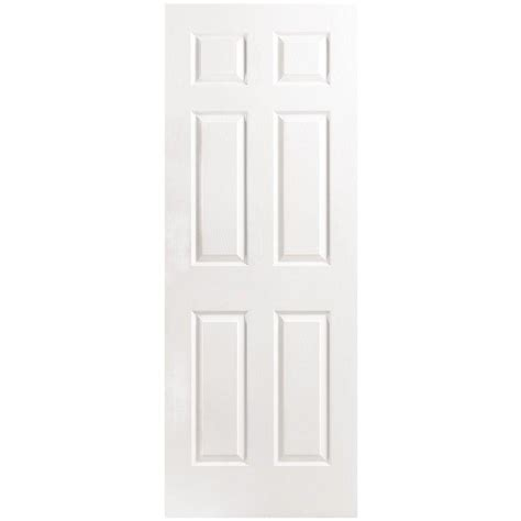 masonite 48 in x 80 in 6 panel primed white hollow core 48 in x 80 in textured 6 panel primed moulded double