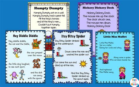 Free Printable Nursery Rhyme Posters Nursery Rhymes Printables Posters With