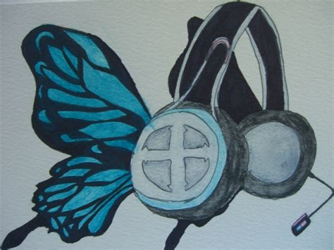 Headphone Miku Ex magnet butterfly headphones luka by vocaloidfan35 on