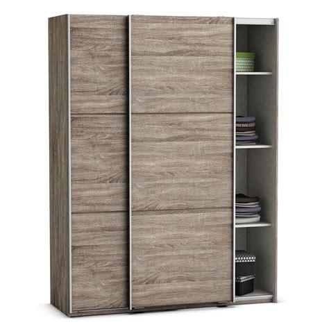 meuble colonne cuisine 2278 armoire en bois 2 portes coulissantes l231cm h228cm stella