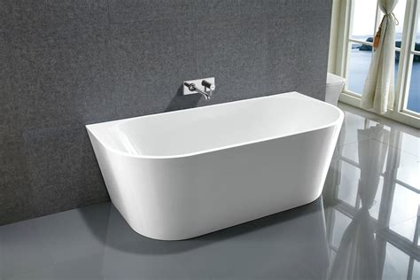 badewanne wand le rond back to wall freestanding acrylic bath tub