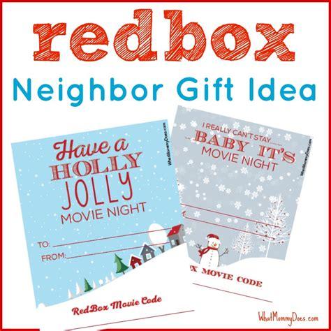 redbox gift card template redbox gift idea what does