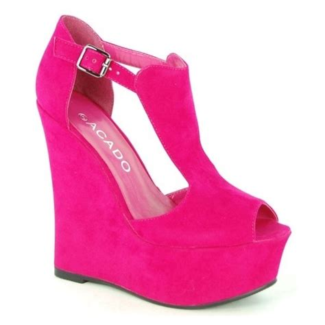shoes i wildly pink acado platform wedges oh