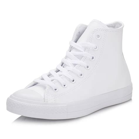 Converse 3 Holes Mono White converse unisex trainers all chuck mono white leather hi tops shoes ebay