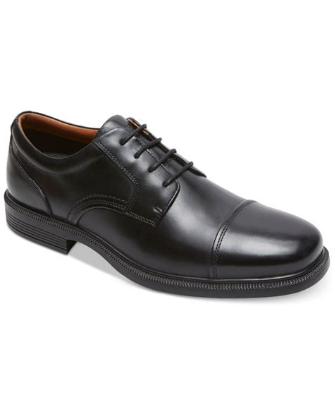 capped oxford shoe rockport s dressports luxe cap toe oxford shoes in
