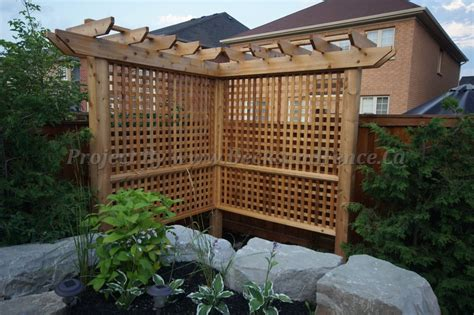 pergola privacy fence a mini pergola privacy fence for the home