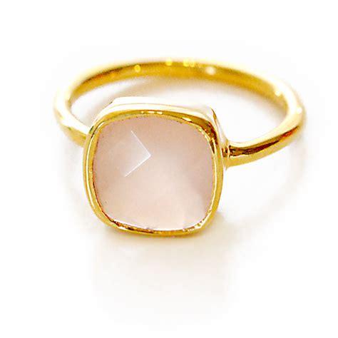 Gemstone Rings by Pink Chalcedony Gemstone Ring