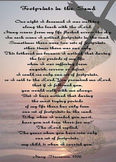 wesst blog master footprints poem