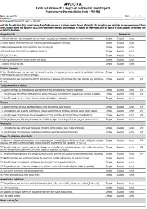 Dementia E Neuropsychologia Neuropsychological Report Template