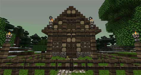 wooden cabin minecraft project