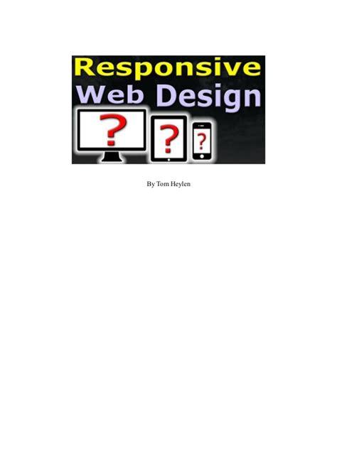 responsive web design tutorial step by step for beginners pdf responsive web design tutorial simple easy