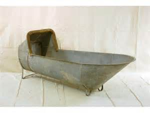 498a galvanized cowboy bathtub lot 498a